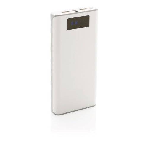 20.000 mAh powerbank with display, white
