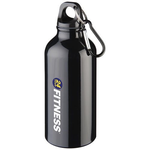 Oregon drinking bottle with carabiner, black